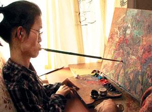 구족화가 김동호씨의 꽃같은 삶… EBS '희망풍경' 기사의 사진