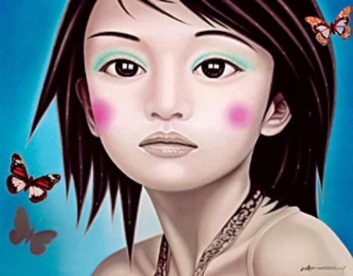 [그림이 있는 아침] 퍼덕거리는 나비 기사의 사진