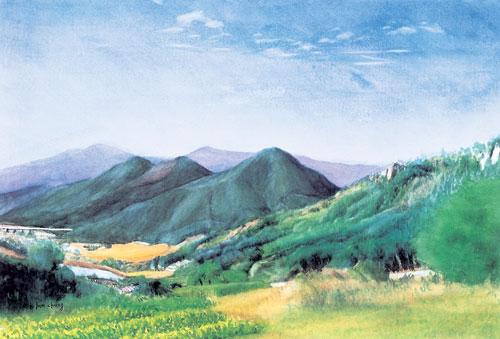[그림이 있는 아침] 산 위에서 기사의 사진