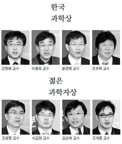 한국과학상·젊은 과학자상 수상자 기사의 사진