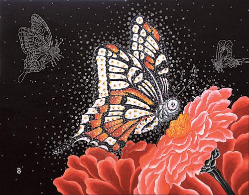 [그림이 있는 아침] 능소화 (나비의 사랑) 기사의 사진