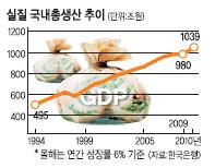 2010년 실질 GDP 1000조 돌파 예상 한국 경제규모 15년만에 倍 껑충 기사의 사진