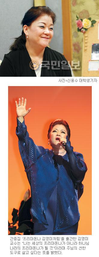 한국의 프리마돈나 미소 되찾다… 우울증·이혼 위기 극복한 소프라노 김영미 교수 기사의 사진