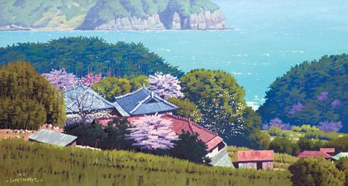 [그림이 있는 아침] 남해의 봄 기사의 사진