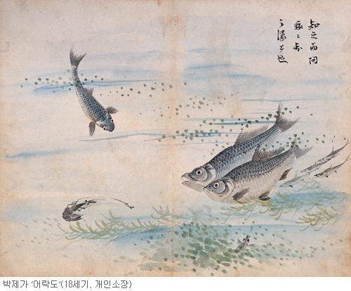 [오늘 본 옛 그림] (62) 물고기는 즐겁다 기사의 사진