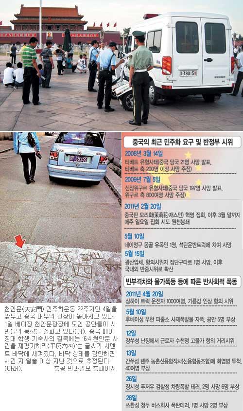 [천안문 민주화운동 22주년] 빈부격차·소수민족 불만 고조… '제2 천안문' 뇌관 기사의 사진