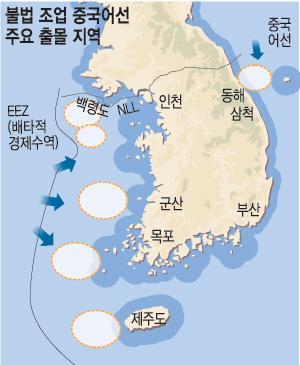 [극에 달한 中 어선 횡포] 우리 해역 무차별 출몰… 갈수록 흉포화 기사의 사진