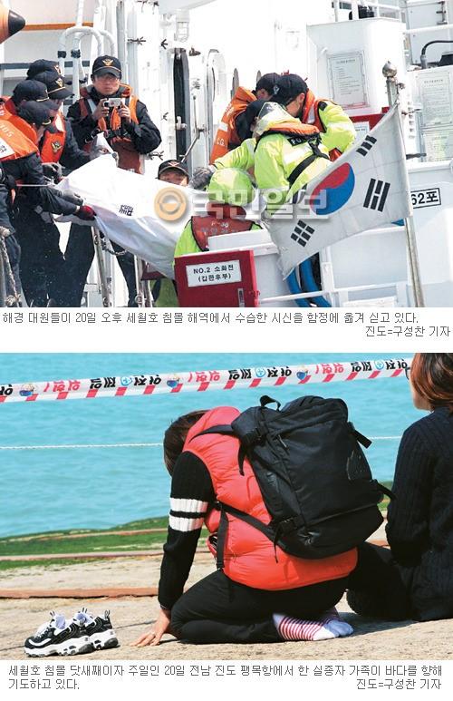 [진도 여객선 침몰] 오열… 탈진… 실신… 실종자 가족들 지옥같은 하루하루 기사의 사진