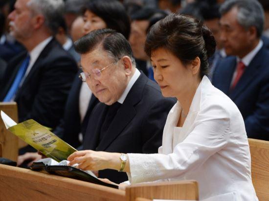 朴대통령, 한국교회 세월호 기도회 참석 기사의 사진