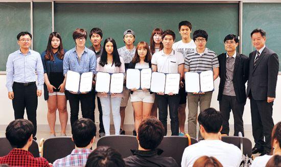 '제자 사랑' 국민대 생명나노학과 교수들 사재 털어 10년간 장학금 기사의 사진