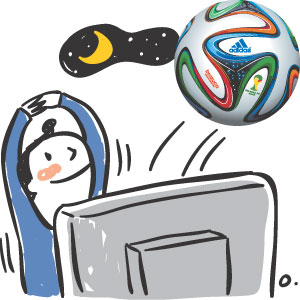 [이기수 기자의 건강쪽지] 월드컵 중계방송 피로감 없이 즐기려면 기사의 사진