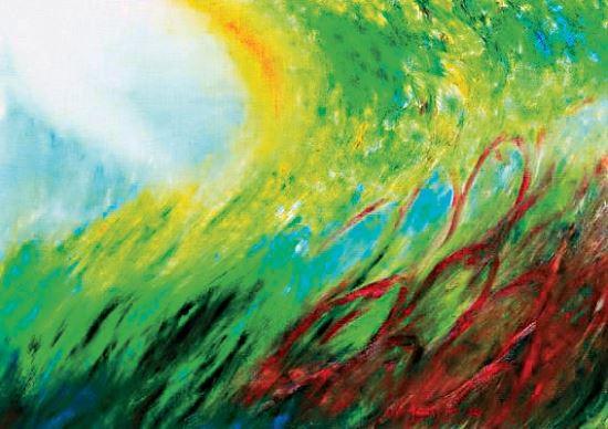 [그림이 있는 아침] 연어떼와  선율 기사의 사진