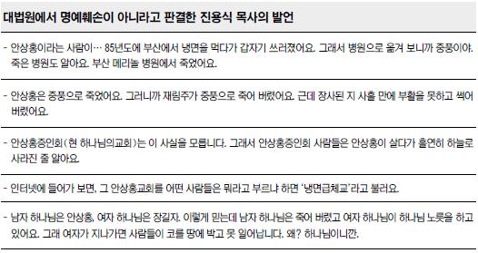 """대법원 """"안상홍에 대한 의혹  명예훼손으로 봉쇄돼선 안돼"""" 기사의 사진"""