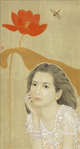 중국 베이징 진르미술관서 한국 화가 3인전, 김현정 작가의 '한류스타 장서희 초상화'도 걸려 기사의 사진