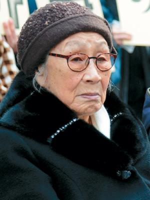 """[한·일 국교정상화 50년-1부 애증의 한·일 관계] 위안부 피해자 김복동 할머니 """"잊고 죽고 싶은데…"""" 기사의 사진"""