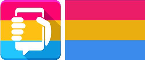서울시 앱 로고, 범성애 상징과 유사 논란 기사의 사진