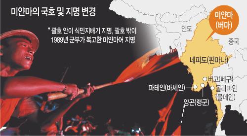 [월드 프리즘] 독재 종식이냐, 식민지 청산이냐… 국호논쟁은 '미얀마판 역사전쟁' 기사의 사진