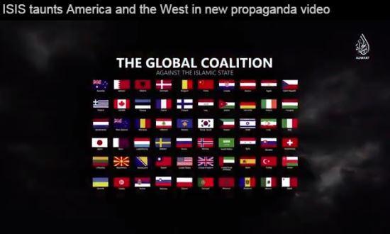 """[영상] IS, 한국 포함 IS에 대항하는 60개국 위협 영상 공개…""""후덜덜"""" 기사의 사진"""