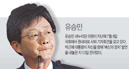 [박근혜 대통령 3년 <중>]  배신☞ 靑과 엇박자 유승민에 직격탄… 여권 전열 재정비 효과 가져와 기사의 사진