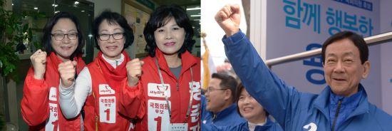 [주목 격전지⑧]서울 용산, 탈당한 원조 친박 '진영' vs 진실한 일꾼 '황춘자' 기사의 사진
