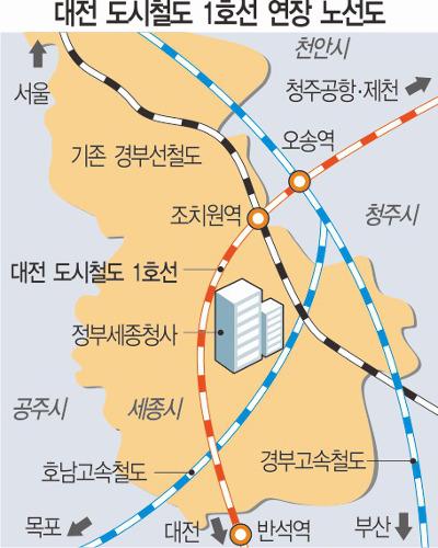 대전도시철도 1호선, 세종시까지 연장 기사의 사진