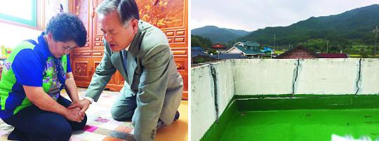 """지진으로 불안한 성도들 """"목사님 기도로 위로와 평안"""" 기사의 사진"""