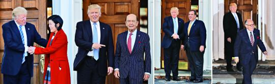 트럼프 각본-트럼프 주연의 '내각 인선 트럼프쇼' 기사의 사진