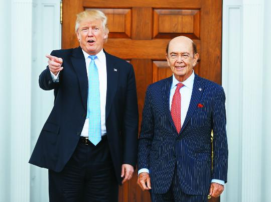 트럼프, 상무장관에 '기업 사냥꾼' 로스 내정 기사의 사진