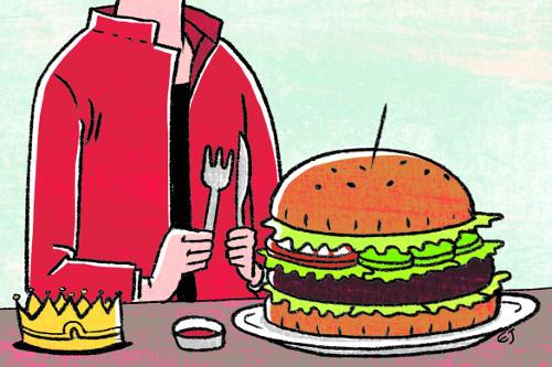 [창-강주화] 햄버거를 먹는 시간 기사의 사진