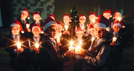 [포토] 몽골학교 학생들의 성탄 축하 기사의 사진