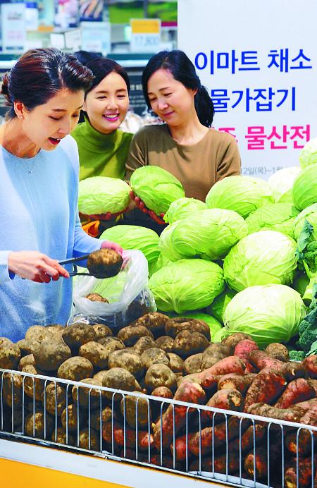 """[포토] """"제주산 채소 싸게 사세요"""" 기사의 사진"""