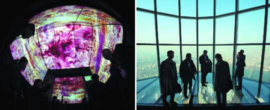 [르포] 478m 높이 유리 '스카이 데크' 발 아래 내려다보니 아찔 기사의 사진