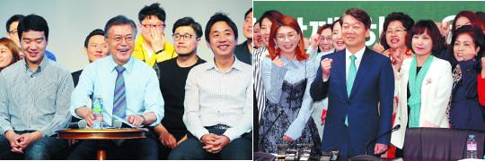 지지층 총결집 중… '남북 관계' 문재인·'경제' 안철수 우위 기사의 사진