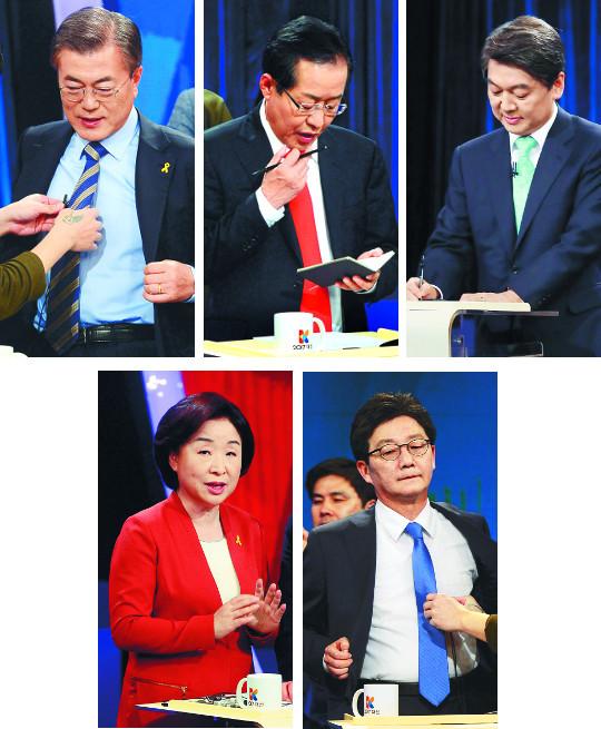 """[투데이 포커스] '어눌한' 문재인, '어색한' 안철수… 전문가들 """"막상막하"""" 기사의 사진"""