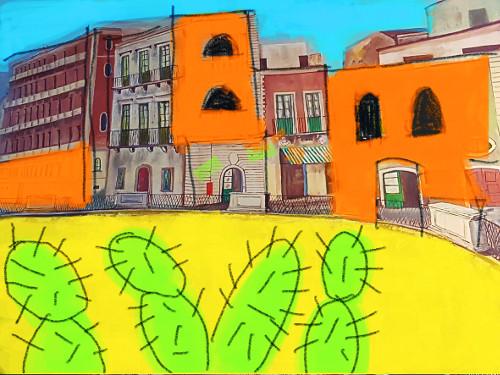 [서양화가 황주리의 나의 기쁜 도시] 시칠리아, 꿈 속의 도시들 기사의 사진