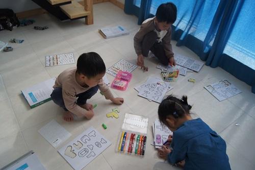 신개념 한글교구 '펀트컬러링', 유아 홈스쿨링 교구로 호평 기사의 사진