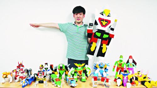 [미션&피플] 종이로 만든 내 세상… 자폐 종이공예 작가 박태현씨 기사의 사진