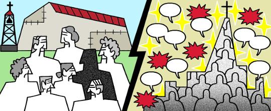 [미션 톡!] 도전에 맞선 교회의 두 풍경 기사의 사진