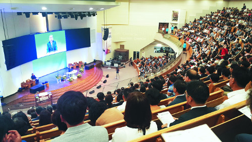 춘천중앙감리교회 예배당 복원 감사예배 기사의 사진