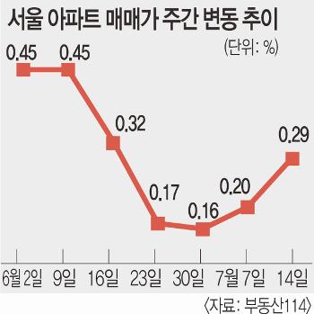 6·19 부동산 대책은 실패했다?  서울 집값 오름세 내달까지 갈 듯 기사의 사진