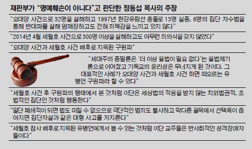 """""""세월호 배후에 구원파"""" 비판 정동섭 목사, 구원파에 승소 기사의 사진"""