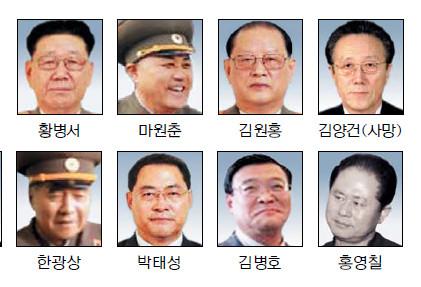 김정은 최측근 '삼지연 8인방' 권력 전면에… '운구차 7인방' 퇴진 기사의 사진
