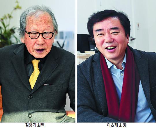 101세 김병기 화백-이호재 가나아트 회장, 32년 '아름다운 동행' 기사의 사진