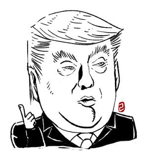"""트럼프 """"아마 나는 김정은과 좋은 관계인 것 같다"""" 기사의 사진"""