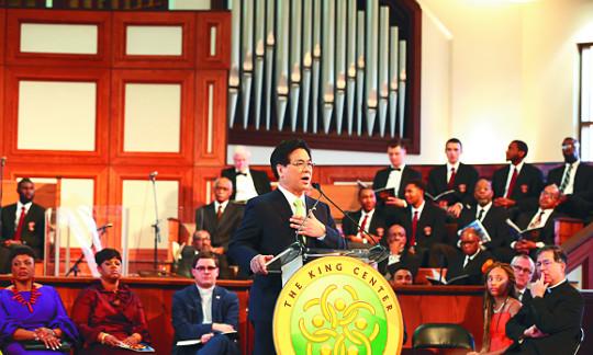 이영훈 목사, 마틴 루서 킹 목사 50주기 추모예배서 축사 기사의 사진