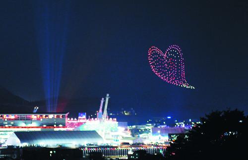 평창 동계올림픽 최고 이벤트는 '드론 퍼포먼스' 기사의 사진