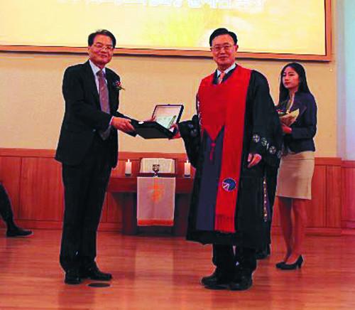 한신대 이사장 김일원 목사 취임… 제24회 한신상에 박부원 장로 기사의 사진
