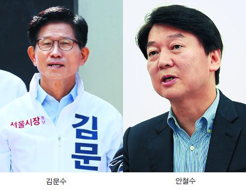 김문수-안철수 단일화, 막판 신경전 기사의 사진