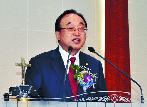 """기성 윤성원 총회장 """"교단 도약할 디딤돌 마련"""" 기사의 사진"""