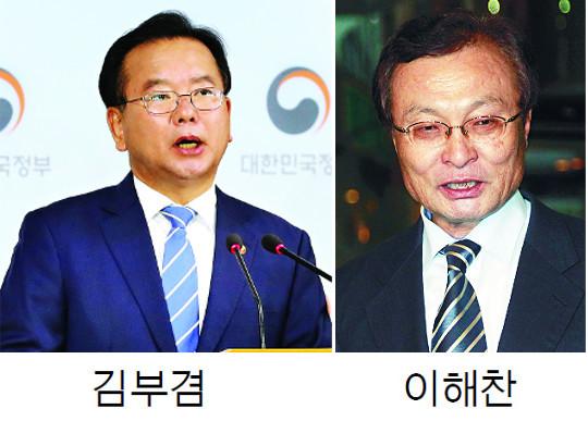 당권 앞… 주춤하는 김부겸, 힘 실리는 이해찬 기사의 사진
